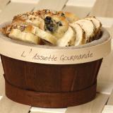 Cestino del pane con tela di lino rimovibile